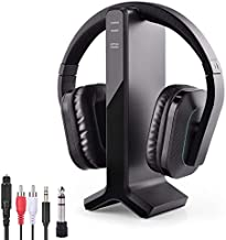 Avantree HT280 Wireless Headphones for TV Watching with 2.4G RF Transmitter Charging Dock, Digital Optical System, High Volume Headset Ideal for Seniors & Hearing Impaired, 100ft Range No Audio Delay