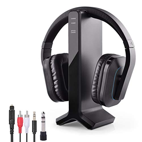 Avantree HT280 Wireless Headphones for TV Watching with 2.4G RF Transmitter Charging Dock, Digital...