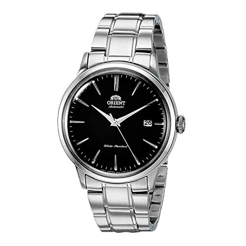 'Orient Men's ' Bambino Version 5' Japanese Automatic / Hand-Winding Stainless Steel Bracelet Dial Color: Black Model #: RA-AC0006B10A'