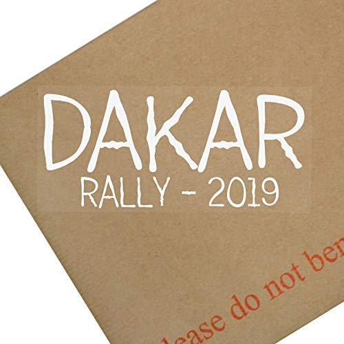 Platinum Place Dakar Rally 2019 - weiß/transparent Fenster für Auto, Buggy, Dirtbike, Motorrad, LKW, Fahrzeug, Schild, Aufkleber, Januar, Rennen, Wettkampf, Reisen.