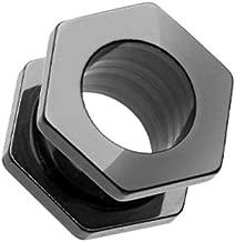 Colorline Hexa Bolt Screw-Fit Ear Gauge Tunnel Plug