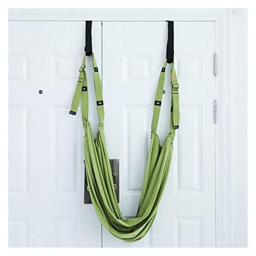 xiaofeng214 De Cuerda de Yoga aérea, Hamaca de Puerta de Columpio, Banda elástica de piernas para Ballet, Baile, Gimnasia, Entrenador (Color : Green)