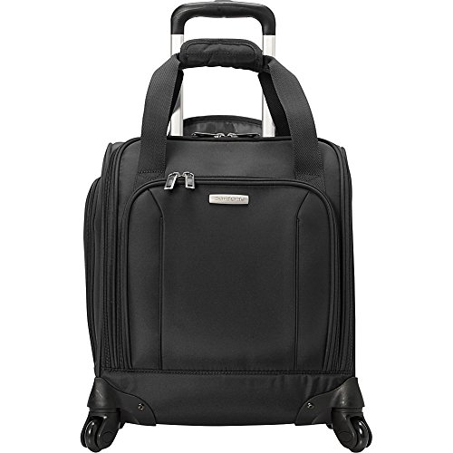 Samsonite Spinner Underseater with USB Port, Rolling Carry-On With Laptop Pocket - Fits 14.2 Inch Laptop - (Black)
