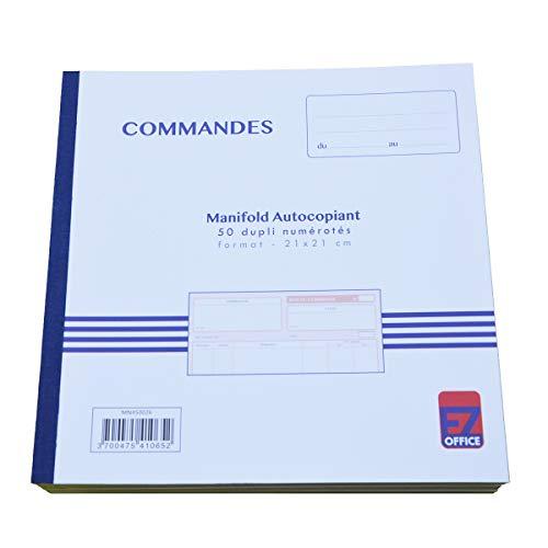 Manifold Commandes Dupli Taille: 210 x 210 mm / 21 x 21 cm Foliotage 50 feuillets Dupli autocopiants EZ Office