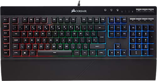 Corsair K55 RGB - Teclado Gaming (retroiluminación multicolor RGB, QWERTY), negro...