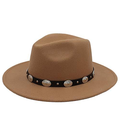 HUANRUOBAIHUO-HAT Cappelli Moda, cappelli, cappelli eleganti, cappel hoed hete goedkoop unisex wol jazz hoed heren Fedora hoed vrouwen vilthoed cowboy panama hoed voor vrouwen Derby Fedoras