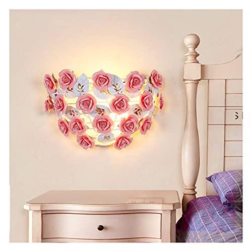 Yxx max -Aplique Pared Lámpara de Pared, Linterna de Rosa lámpara de Flores romántica Estilo Coreano jardín iluminación Dormitorio lámpara de Pared lámpara de Pasillo Iluminación Dormitorio