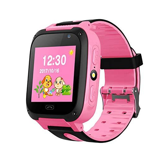 Juguetes para niños Reloj Inteligente Cámara con Pantalla táctil a Color LBS Posicionamiento SOS Reloj para niños con cámara Juegos de matemáticas Linterna para niños de 3 a 12 años Regalos niñas