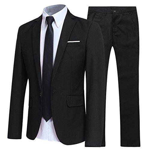 Allthemen Abiti da Uomo 2 Pezzi Suit Slim Fit Wedding Dinner Tuxedo Abiti per Uomo Business Casual Giacca e...