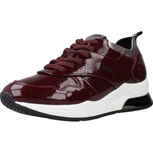 LIU JO Shoes Karlie 14 Sneaker, Zapatillas, Rojo (Bordeaux S1703), 35 EU