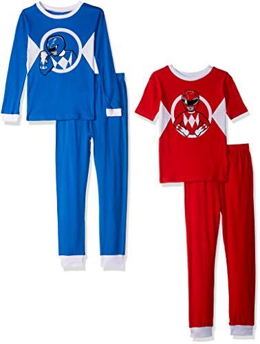 Power Rangers Boys' 4-Piece Cotton Pajama Set