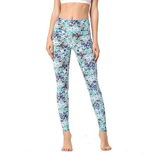 Laisla fashion Damen Blume Strumpfhosen Skinny Elastische Leggins Bedruckte Classic Bunte Yogahose Fitness Pants Damen Mode Vintage Casual Hosen (Color : Farbige Blume, Einheitsgröße : XL)