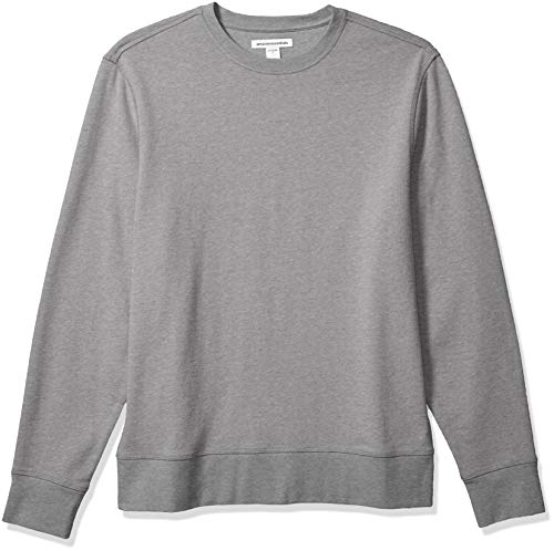 Amazon Essentials Men's Long-Sleeve Lightweight French Terry Crewneck Sweatshirt, Grey, X-Small