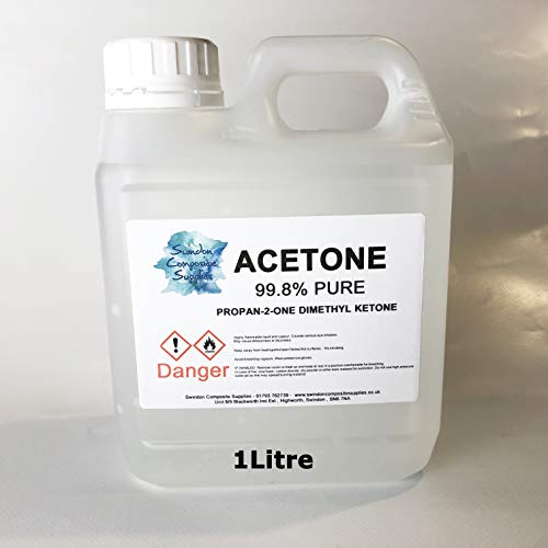 Acetone 99.6% Pure High Quality,Nail Varnish Remover - 1Litre
