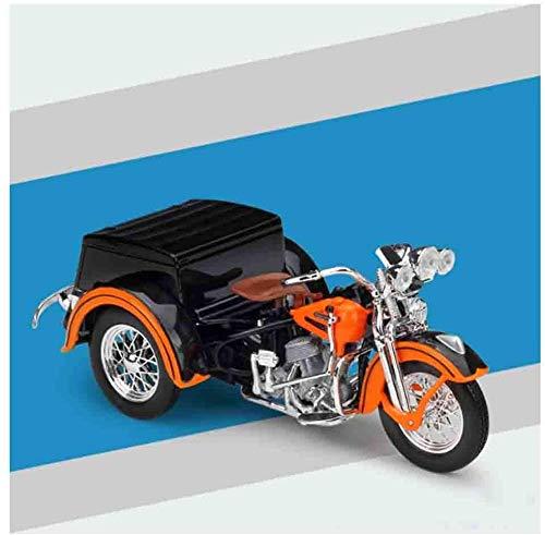 Zhangl 18.01 Harley-Dreirad-Motorrad Die Cast-Modellbau-Legierung Auto Sammlung Spielzeug Geeignet for Jungen Mädchen und Erwachsene, 1947 (Color : Harley 1948 FL)