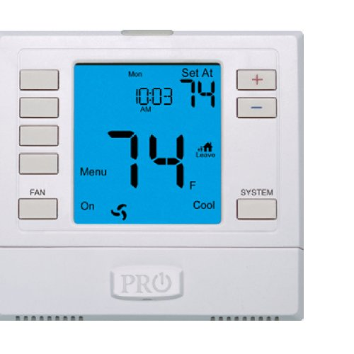 PRO1 IAQ T755 3 Hot/2 Cold 7 Day Thermostat with 4-Sq-Inch Screen
