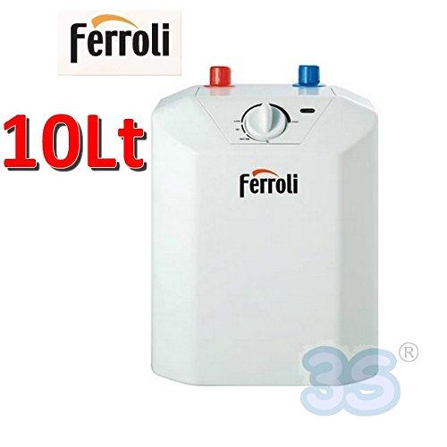 Calentador de agua eléctrico 10 Lt-Calentador mueble Ferroli NOVO-Hervidor vetroporcellanato