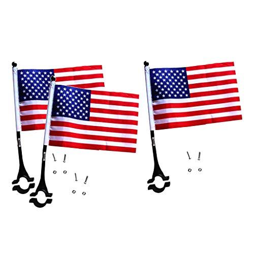 lahomia 3 Banderas de Seguridad para Bicicletas Sólidas con Accesorios de Bandera Cuadrada para