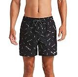 Nike 5 Volley Pantaloncini da Bagno da Uomo, Uomo, Costume da Bagno, NESSA474, Nero, M