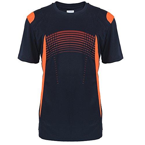 Facitisu Mens Short Sleeve Performance Shirt Lightweight Athletic Running Sport Dry fit Tee Shirts S-3XL Navy