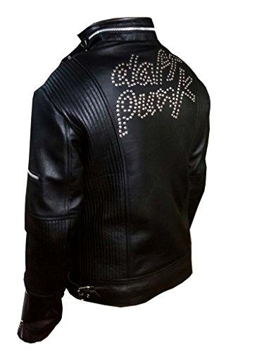 Stylowears Daft Punk Veste en cuir - Noir - Large