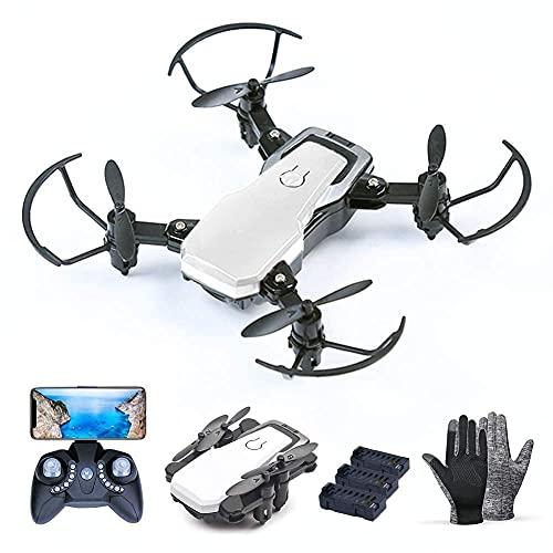 Daily Accessories MiniDrone equipado con 2 millones de cámara HD con 3 baterías plegable FPV WiFiQuadcopter suspensión de altura fija 3 velocidades ajustables para niños y adultos