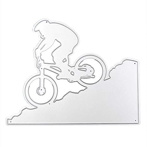 COLUDOR Extreme Fahrrad Metall Stanzformen Schablone DIY Scrapbooking Album Stempelkarte