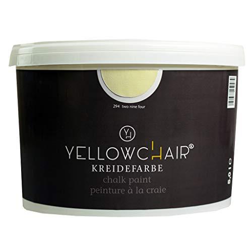 Kreidefarbe yellowchair No.294 pastellgelb ÖKO für Wände und Möbel 5 Liter