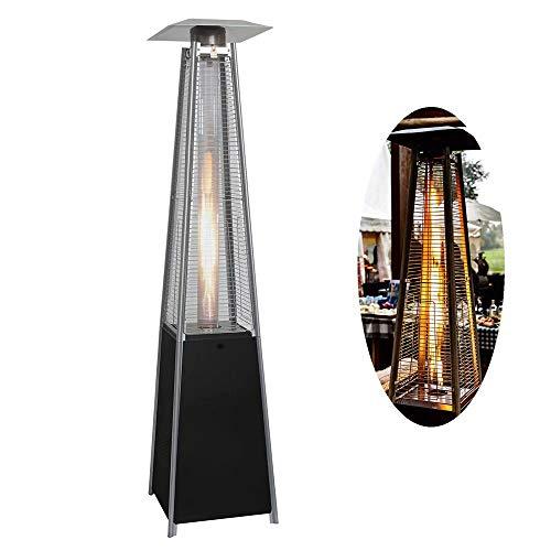 HANMIAO 13KW Calentador de Patio de Gas, Calentador de Jardín Calentador de Patio Piramidal, Estufa de Terraza Estufa de Gas para Exterior, 227*73*73cm