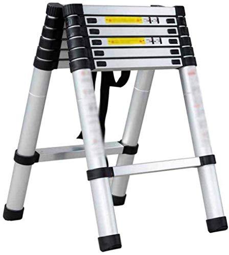GUOXY Multifunktions-Teleskopleiter Sicherheit Nicht Beleg-Matte Heavy Duty Aluminium-Legierung Folding Tragbare Küchenhocker Startseite Gartenwerkzeug