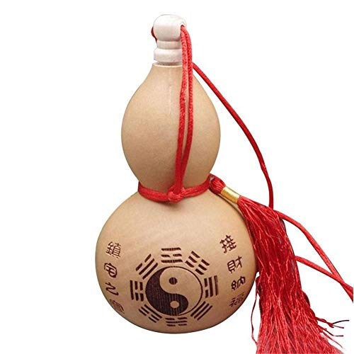 XIAOXI 1pc Natural Mini Calabaza de Vino Artesanía Colección de Arte Chino Tradicional Colgante Juguete Fotografía Accesorios Regalo de Navidad