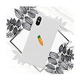 Jolie coque de téléphone en forme de carotte pour iPhone 11 12 mini pro XS MAX 8 7 6 6S Plus X SE...