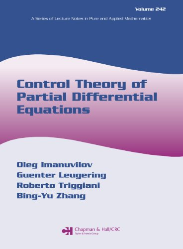 Control Theory of Partial Differential Equations (Lecture Notes in Pure and Applied Mathematics Book 242) (English Edition)