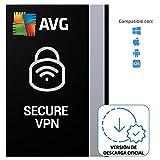 AVG Secure VPN - Conexión Privada Virtual para proteger la privacidad | 5 Dispositivo | 1 Año | PC/Mac | Código de activación enviado por email