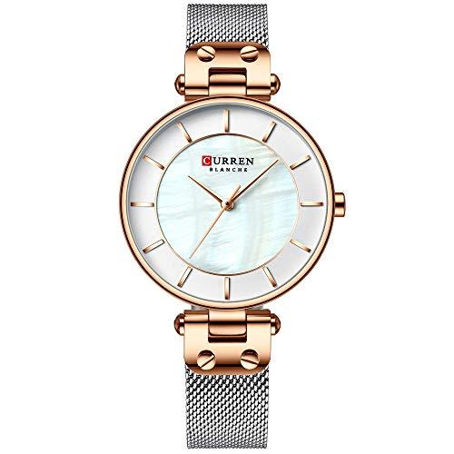 Curren Frau Uhren wasserdicht Legierung Fall edelstahlband quarzuhr Mode Exquisite Armbanduhr