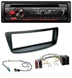 caraudio24 Pioneer DEH-S120UB CD MP3 AUX 1DIN USB Autoradio für Citroen C1 Peugeot 107 Fakra Phantomeinspeisung