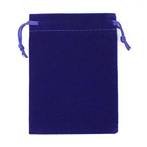 50Pcs/lot 5x7cm 7x9cm 8x10cm 9x12cm Coloful bag Jelry Packing Drawstring Pouches Gift Bags Can customized-sapphire,9x12cm