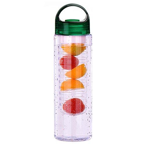 Zrong 700ml Obst Infusionsflasche Trinkflasche mit Fruchtschorlen Früchtebehälter BPA-frei