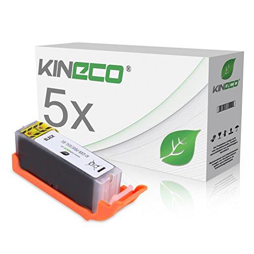 5 Kineco PGI 570XL Tintenpatrone kompatibel mit Canon PGI570 XL für Canon Pixma MG5750 MG6850 TS5050 Series - 0318C001 - Schwarz je 22 ml