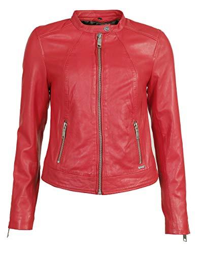 Maze Damen Bikerjacke Mit Coolen Zippern Grenada Flame Red L