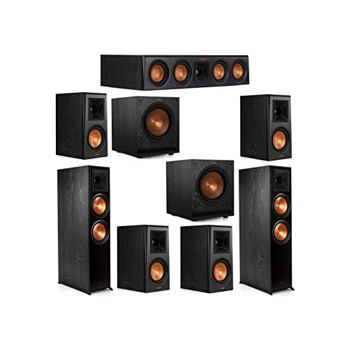 Best Bargain Klipsch 7.2 System with 2 RP-8000F Floorstanding Speakers, 1 Klipsch RP-404C Center Spe...