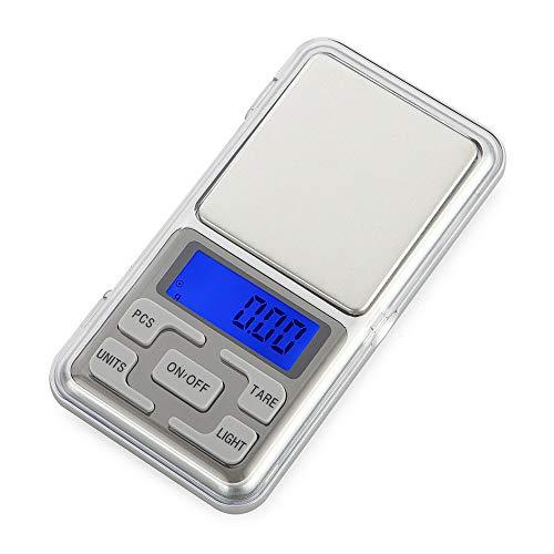 TechCode Mini balances numériques, Balance de Poche Ultra-Mince électronique électronique Portable 100 g / 0,01 g pour Balance de Cuisson Multifonction avec écran LCD