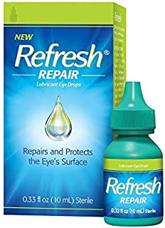 Refresh Repair & Protect Lubricant Eye Drops, 0.33 fl oz (Pack of 2)