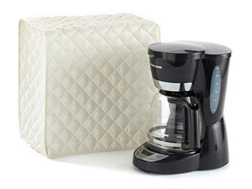Covermates Keepsakes – Coffee Maker Cover – Dust Protection - Stain Resistant - Washable – Appliance Cover-Cream