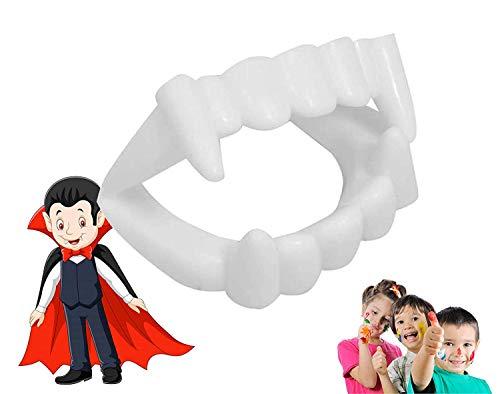 TK Gruppe Timo Klingler Vampirgebiss - kinderfreundlich - passend für Kinder - stabil & unbedenklich - Vampirzähne Halloween Gebiss Dracula Vampir zum Aufstecken (1x Stück)