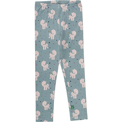 Fred'S World By Green Cotton Unicorn Leggings Baby Sculptant, Vert (Moss 016580601), 80 cm Mixte bébé