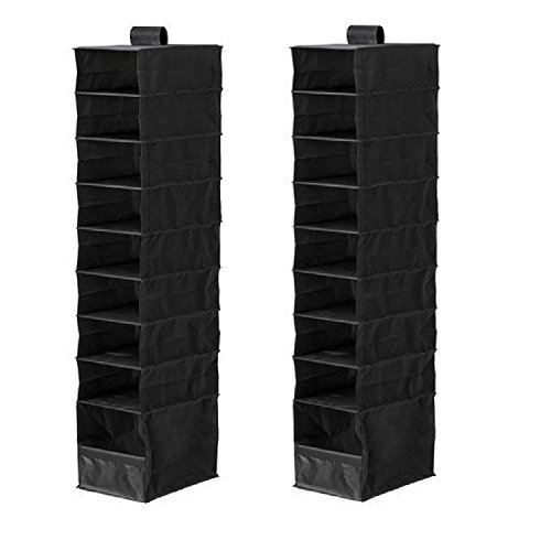 IKEA Organizer Closet Storage Hanging Skubb (2 Pack) Black