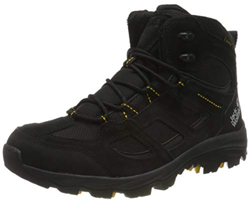 Jack Wolfskin Herren Vojo 3 Texapore MID M Outdoorschuhe, Black/Burly Yellow XT, 43 EU