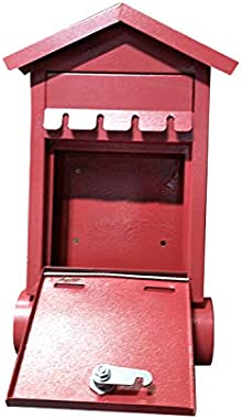 Red Wall Mounted Mailbox – Modern Mailbox for Residential Apartments and Houses – Heavy-Duty Mailbox with Lock and Key – Alum