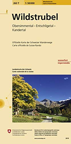 263T Wildstrubel Wanderkarte: Obersimmental - Entschligetal - Kandertal (Wanderkarten 1:50 000)